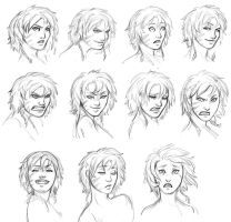 Astrid expression sheet by iara-art