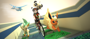 Pokemon - bicyle path ! by James--C