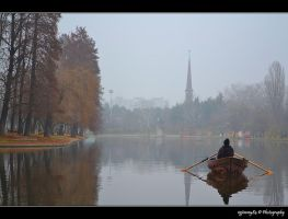 misty fishing by Iulian-dA-gallery