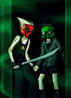 Homestuck - Dirk and Jake by MelSpontaneus