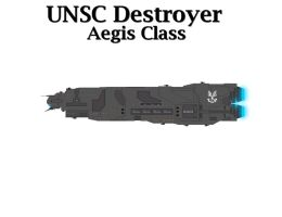 UNSC Destroyer - Aegis Class by Seeras