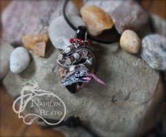 Boa Constrictor eating a rat Pendant by NadilynBeato