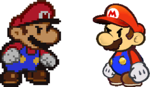 Paper Mario vs. The Other One by Sonicyay2