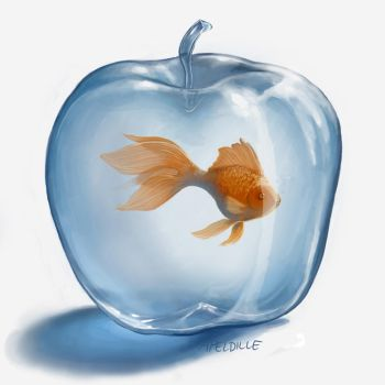The Goldfish Dreamed of Apples by apeldille