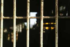 Through prison bars by Zarine-Aybara