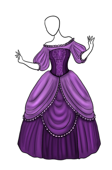 Lavender Ballgown Adopt [SOLD] by Captain-Savvy