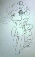 Me Pony Pinkie Pie drawing by CrystalHanaHM2013