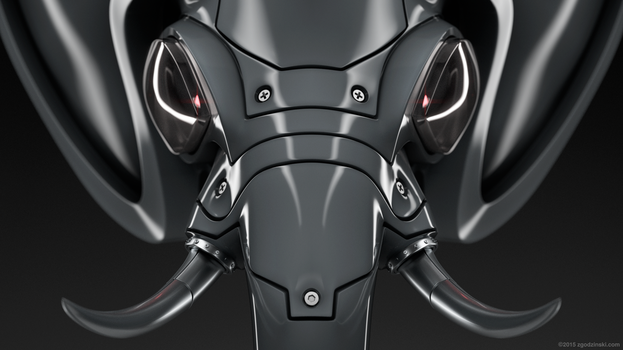 Robot elephant head finished by zgodzinski