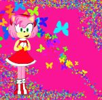 Amy rose butterflies by Mhbustos1
