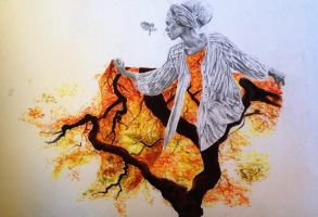 N.C.E.A Level 2 Autumn Girl by CindyHuangArt