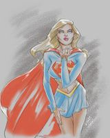 SUPERGIRL SKETCH, COMMISSIONS OPEN!! by k-d-art