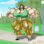 Commission - Katie muscle growth 4 by MATL