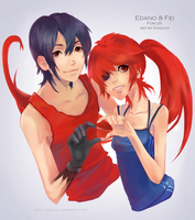 Edano and Fei for UK by Kinicko