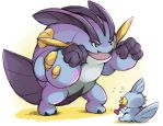 Mega Swampert's Training Session by ze-tta