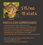 Open for Icon Commissions by VinceAlvarino