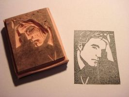 Robert Pattinson rubber stamp by dragonflycurls