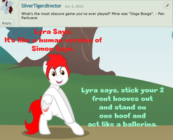 Ask Dream Caster: Question 52 - Lyra Says by DreamCasterPegasus