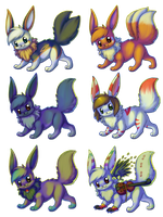 Eevee gifts by BakaMichi