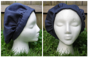 Blue Linen Peasant Hat by oh-sew-fun