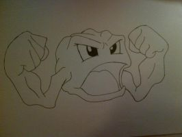 #074 Geodude by Rawwr-Art
