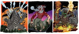 Colossal Kaiju Combat Trading Card Game Set 4 by fbwash