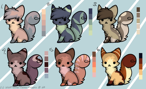 Kitty Adoptables Set - OPEN by WolfTwine