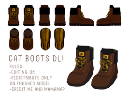 [MMD] CAT BOOTS DL by blockdt