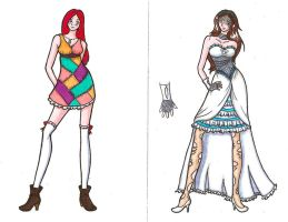 Sally and Emily Fashion Design by CaptBeans