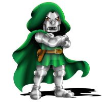 Doctor Doom Chibi by ExoroDesigns