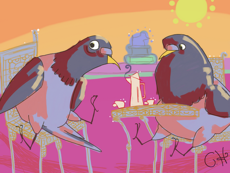 Pigeons Tea by mrstupes