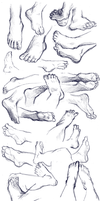 Feet Study by Yohiri
