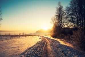 Winter sunset by konstantingl