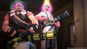 Team Fortress 2 (TF2) - Heavy and Medic by ViewSEPS