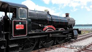 GWR 7827 'Lydham Manor' at Goodrington Sands by The-Transport-Guild