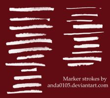 Marker strokes brushes by ArtAnda