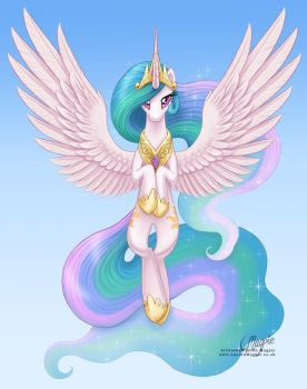 Princess Celestia: Raising the Sun by LaurenMagpie