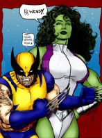 She-hulk-n-Wolverine by THE-Darcsyde