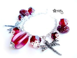 _Red wine charmbracelet by kitica