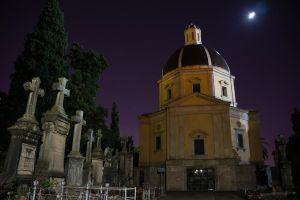Cemetery at night by CabrerFoto