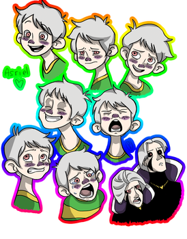 Human Asriel Expressions by The-Twitching-Doll