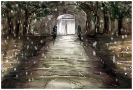 Elven Palace, speedpaint by nearlySupremeBeing