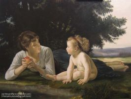 Bouguereau 1880 La tentation 1 by MaryamParva