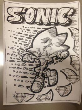 Sonic Fan Comic Book Cover by Billyman345