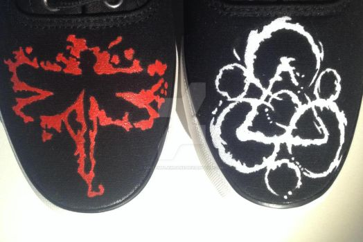 Coheed and Cambria custom shoes by CustomPlainJane