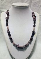 Tri-Strand Purple Necklace - FOR SALE by Thy-Darkest-Hour