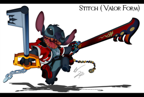 Stitch Cosplay Valor Form by GunZcon