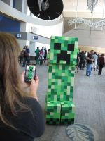 Me as Minecraft Creeper at SacAnime August 2014 by plastik-panda