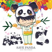 Panda by awgvector