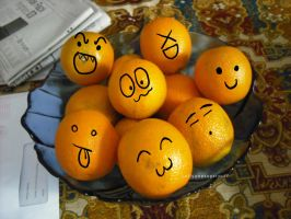 Cute Oranges by lollypopsugarpuff