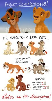 Lion OC's Commissions by pokrzyva